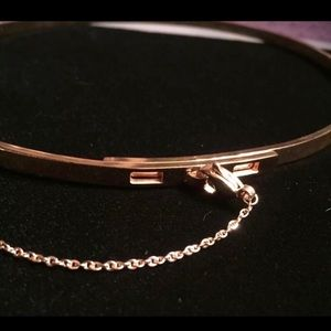 Rose Gold Thin Safety Chain Choker Necklace